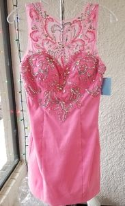 Hot Pink Mac Duggal Dress
